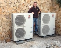Mitsubishi Ecodan Heatpump installed in parallel for a large Villa in Quinta Do Lago - Algarve